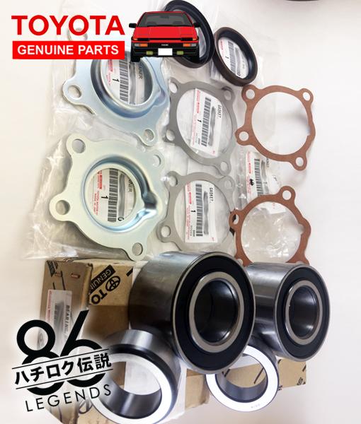 AE86 Rear Axle Rebuild Kit (OEM Toyota, Complete)