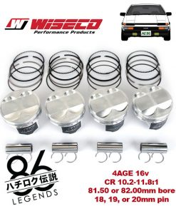 ae86 4age racing piston set wiseco
