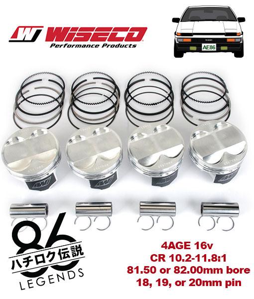 ae86 4age racing piston set wiseco