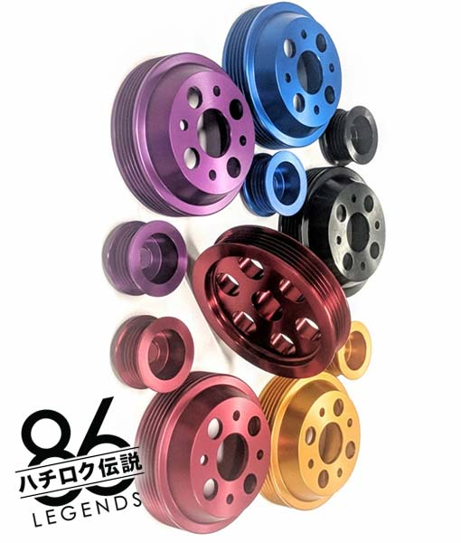 AE86 4AGE Pulley Kit Colors