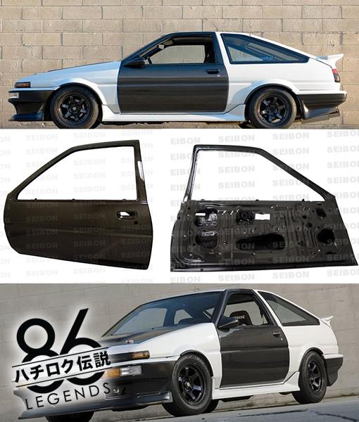 ae86 carbon doors