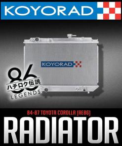 AE86 Toyota Corolla GTS Koyo Aluminum Radiator